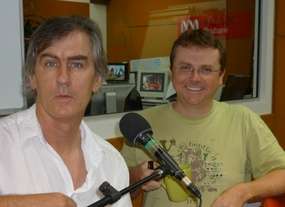 Robert Forster in the ABC studio